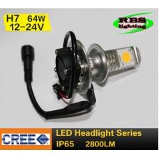Світлодіодна лампочка 3G-HL-2800lm H7  (головне світло)