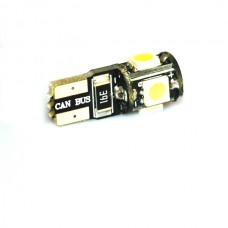 Светодиодная лампочка T10c-5SMD5050 (передние габаритные огни)