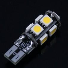 Светодиодная лампочка T10c-9SMD5050 (передние габаритные огни)