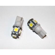Светодиодная лампочка T10-5SMD5050 (передние габаритные огни)