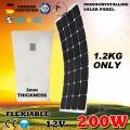 Гнучка сонячна панель 12V 200W