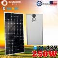 Монокристаллическая солнечная панель Класса А 12V 250W