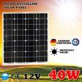Монокристаллическая солнечная панель Класса А 12V 40W