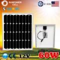 Монокристаллическая солнечная панель Класса А 12V 60W